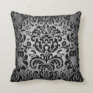 "Choose The Colour ""Mock Flock"" Floral Pattern 1 Cushion"
