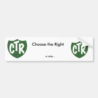 Choose the Right Bumper Sticker