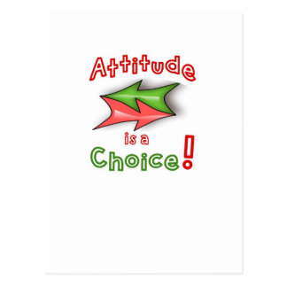 Choose your attitude! postcard