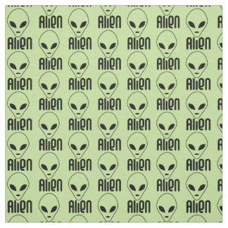 Choose your background color alien print fabric