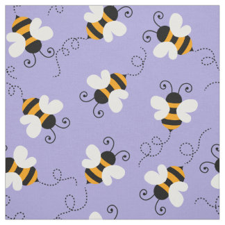 Choose your background color bee bumblebee pattern fabric