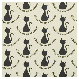 Choose your background color black cat fabric