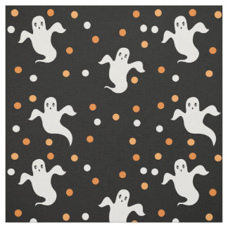 Choose your background color ghosts fabric