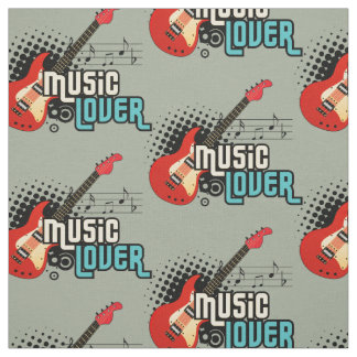 Choose your background colour music lover Fabric