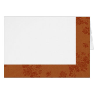 Choose Your Color Amber Fabric Blank Card