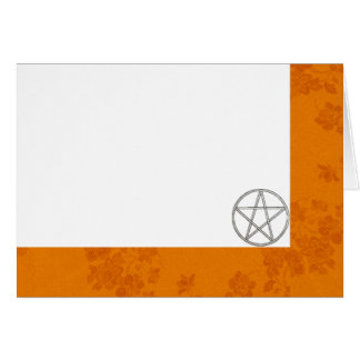 Choose Your Color Autumn & Pentacle Fabric Blank Card
