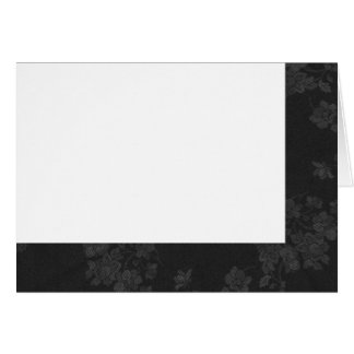 Choose Your Color Black & Gray Fabric Blank Card