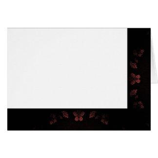 Choose Your Color Black & Mauve Fabric Blank Card