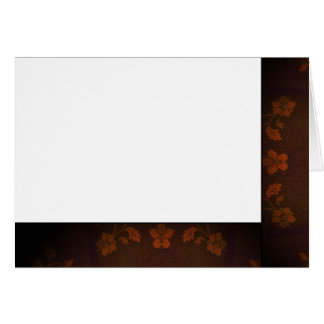 Choose Your Color Black & Pecan Fabric Blank Card
