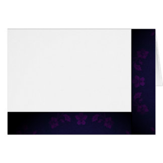 Choose Your Color Black & Purple Fabric Blank Card