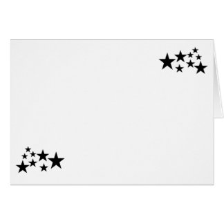 Choose Your Color Black Stars Blank Card