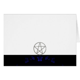 Choose Your Color Blue & Pentacle Fabric Blank Card