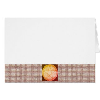 Choose Your Color Brown Gingham & Pentacle Card