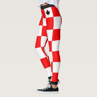 Choose YOUR Color Canadian Maple Checkered Leggings