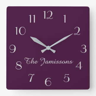 CHOOSE YOUR COLOR, Clock, Purple Default Wall Clocks
