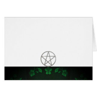 Choose Your Color Green & Pentacle Fabric Blank Card