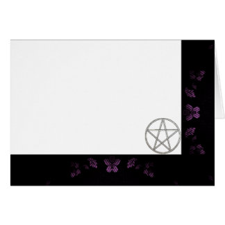 Choose Your Color Laven. & Pentacle Fabric Blank Card