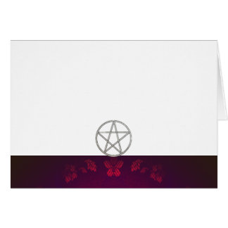 Choose Your Color Maroon & Pentacle Fabric Blank Card