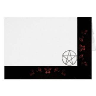 Choose Your Color Mauve & Pentacle Fabric Blank Card