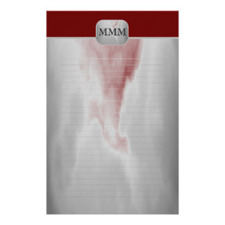 Choose Your Color Monogram Fine Lined Stationery