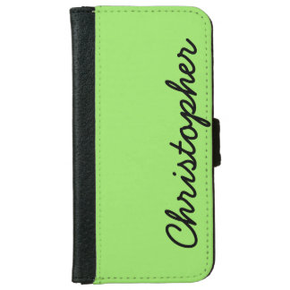 CHOOSE YOUR COLOR or Neon Lime Green Custom iPhone 6 Wallet Case