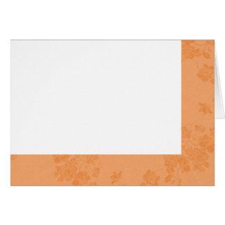 Choose Your Color Peach Fabric Blank Card