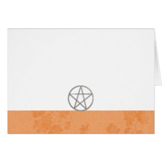 Choose Your Color Peach & Pentacle Fabric Blank Card