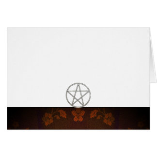 Choose Your Color Pecan & Pentacle Fabric Blank Card