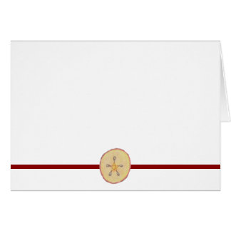 Choose Your Color Pentacle Apple Slice Blank Card