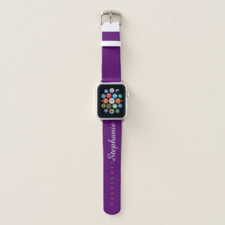CHOOSE YOUR COLOR Personalized Name Custom Color Apple Watch Band
