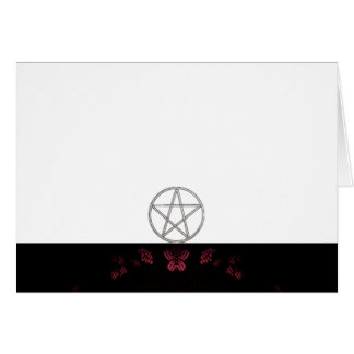 Choose Your Color Pink & Pentacle Fabric Blank Card