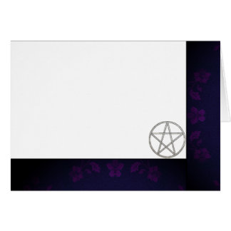 Choose Your Color Purple & Pentacle Fabric Blank Card