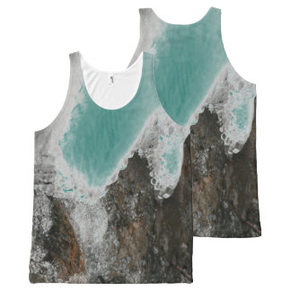 Choose Your Color River Icicles All-Over Print Singlet
