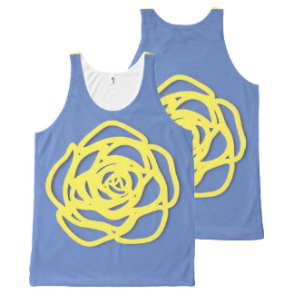 Choose Your Color Rose on Blue All-Over Print Singlet