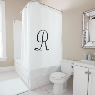 CHOOSE YOUR COLOR Shower Curtain with Monogram