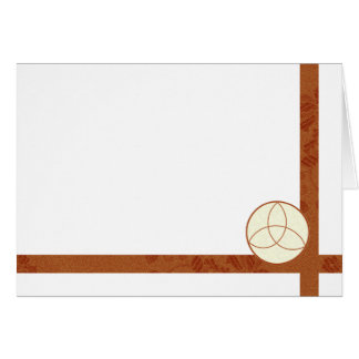 Choose Your Color Triquetra & Brown Fabric Blank Card