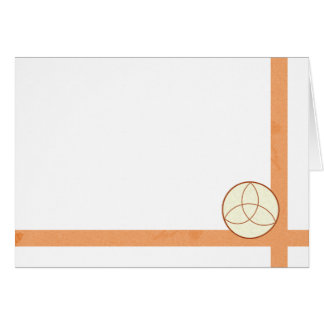 Choose Your Color Triquetra & Peach Fabric Blank Card