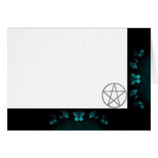 Choose Your Color Turquo. & Pentacle Fabric Blank Card