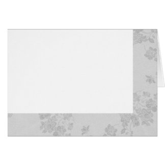 Choose Your Color White Fabric Blank Card