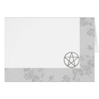 Choose Your Color White & Pentacle Fab. Blank Card