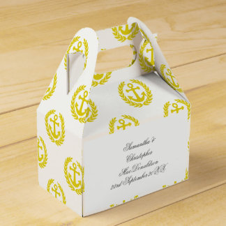 Choose your colour anchor nautical themed wedding favour box