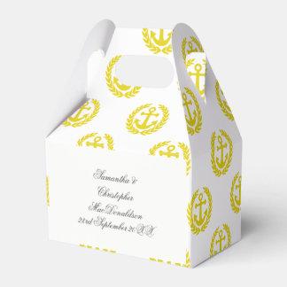 Choose your colour anchor nautical themed wedding favour boxes