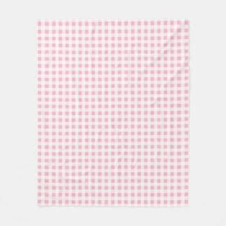 Choose Your Colour Gingham Pattern Fleece Blanket