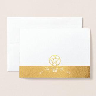 Choose Your Foil: Foil & Pentacle Fabric Blank Foil Card