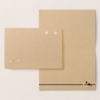 Choose Your Foil Stars Blank Foil Card