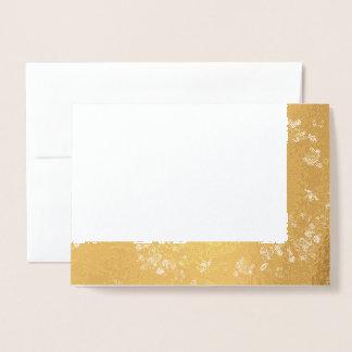 Choose Your Foil Vintage Fabric Lines Blank Foil Card