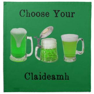 Choose Your Gaelic Weapon Napkin