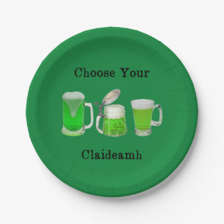 Choose Your Gaelic Weapon Paper Plate