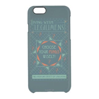 Choose Your Minds Wisely - Legilimens Poster Clear iPhone 6/6S Case
