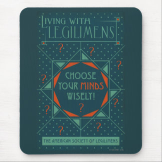 Choose Your Minds Wisely - Legilimens Poster Mouse Pad